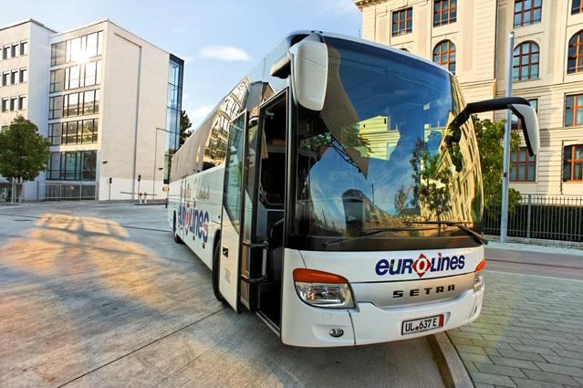 Eurolines Business Class Bus in München, ZOB (Źródło Prasa Turing.de)