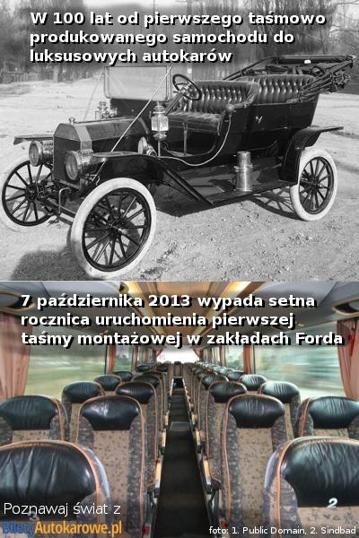 Poznawaj swiat z BiletyAutokarowe.pl - 100 lat taśmy montażowej